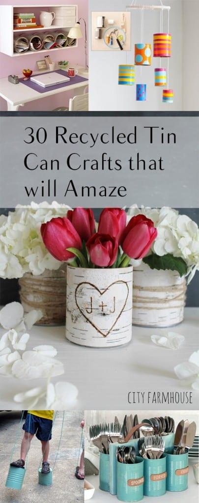 Tin can upcycles, ways to upcycle tin cans, tin can crafts, DIY tin can crafts, DIY crafts, DIY home decor, popular pin, DIY interior crafts, DIY home crafts