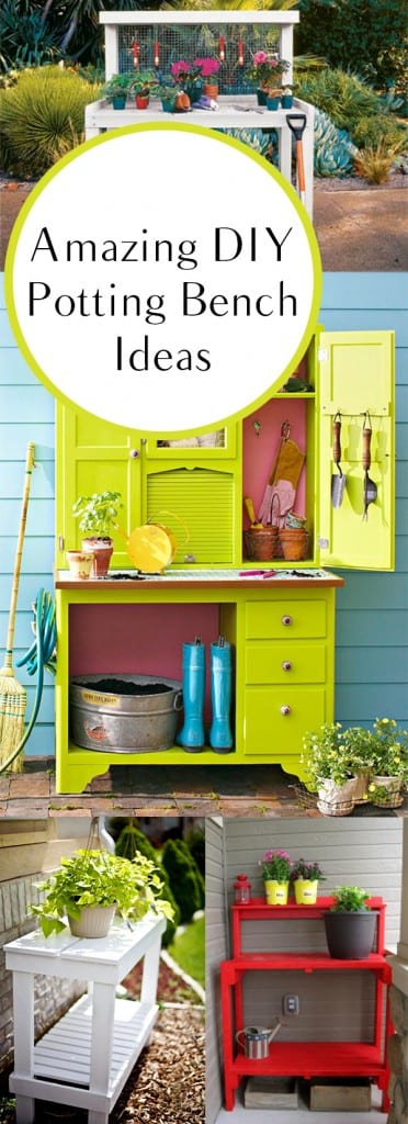 12 diy potting benches how to build it for Potting shed plans diy blueprints