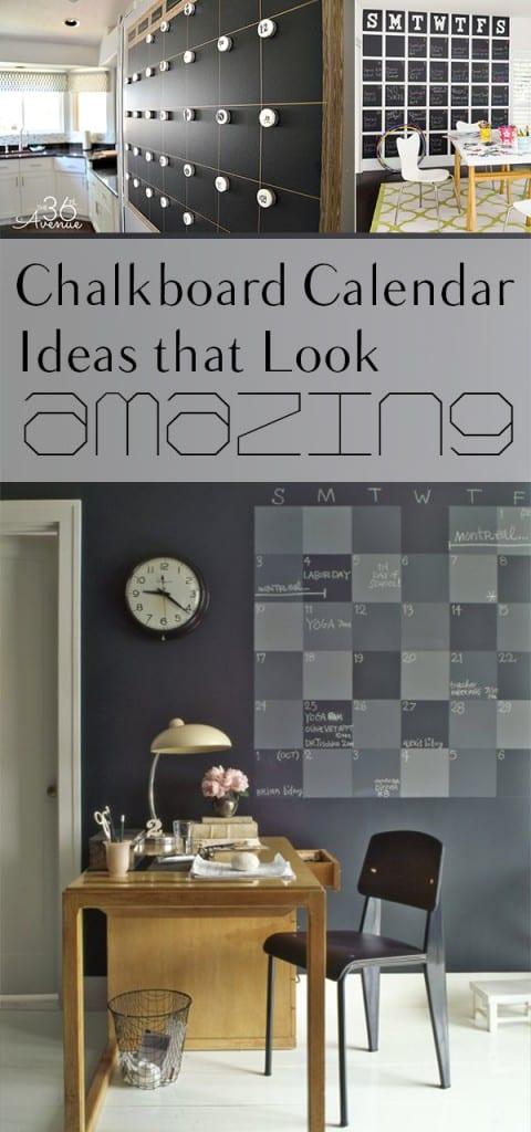 Chalkboard Calendar Ideas that Look Amazing