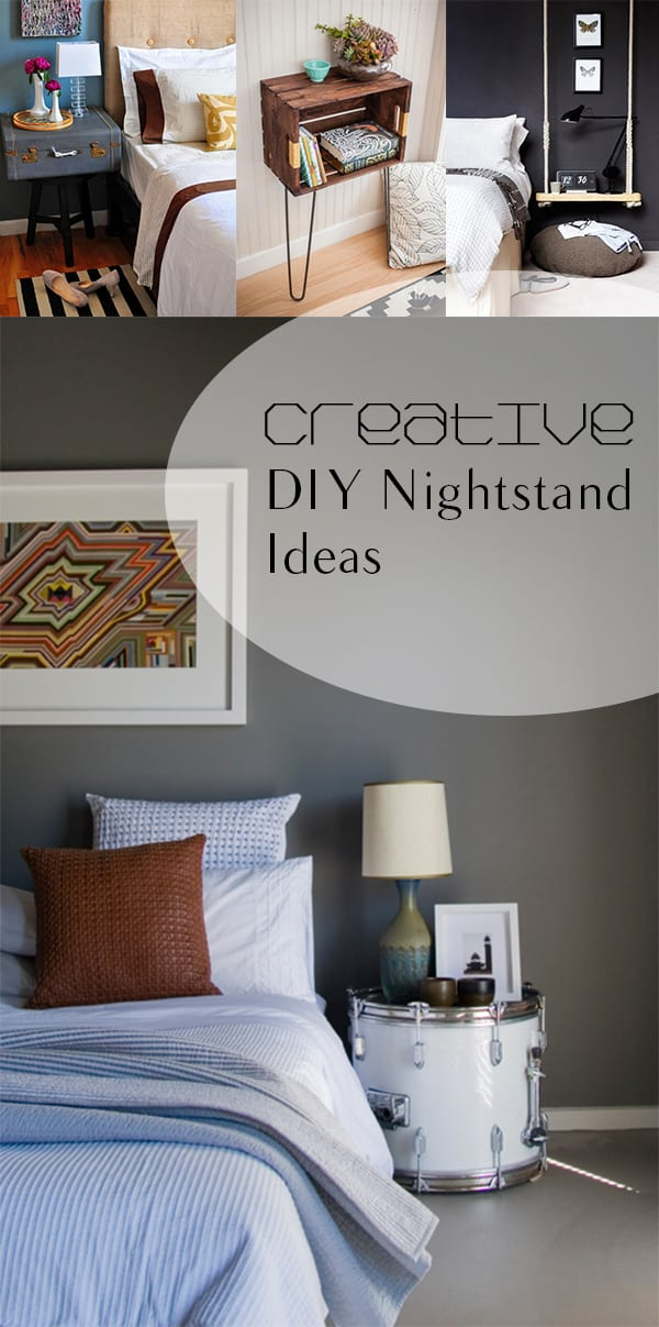 16 creative diy nighstand ideas how to build it for Creative nightstand ideas