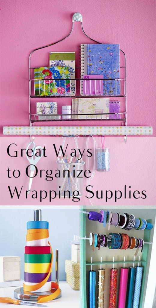 Great Ways to Organize Wrapping Supplies
