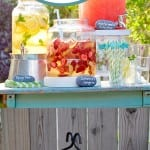 Backyard party, backyard party decor, DIY party decor, summer party, popular pin, barbecue ideas, barbecue recipes, pool party ideas.