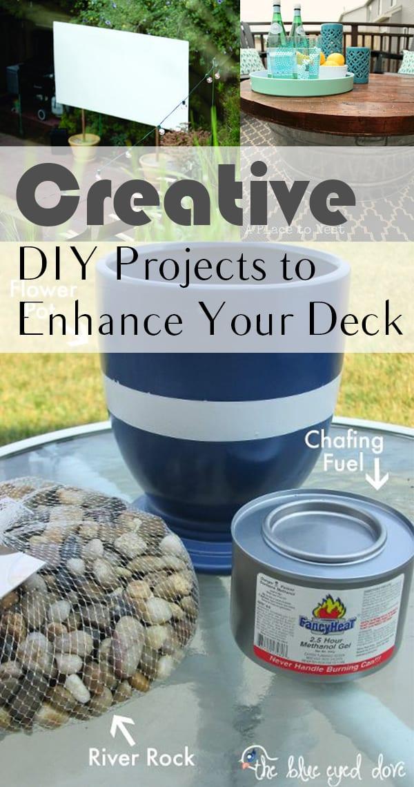 DIY projects, deck enhancing, DIY deck enhancing, creative DIY, popular pin, outdoor projects, outdoor DIYs