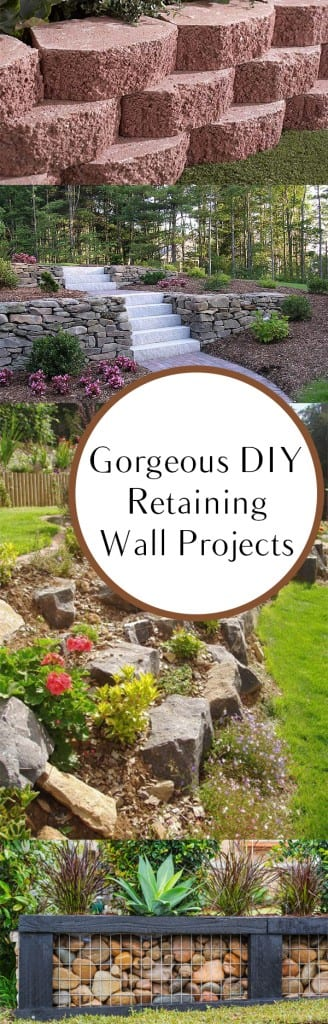 Retaining wall, retaining wall tutorial, DIY retaining wall, popular pin, home improvement, DIY home improvement, easy DIY, easy home improvement.