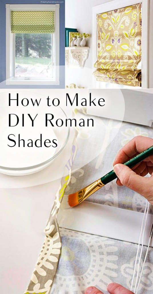 Roman shades, DIY roman shades, window treatment ideas, DIY window treatments, popular pin, home decor, DIY home decor,