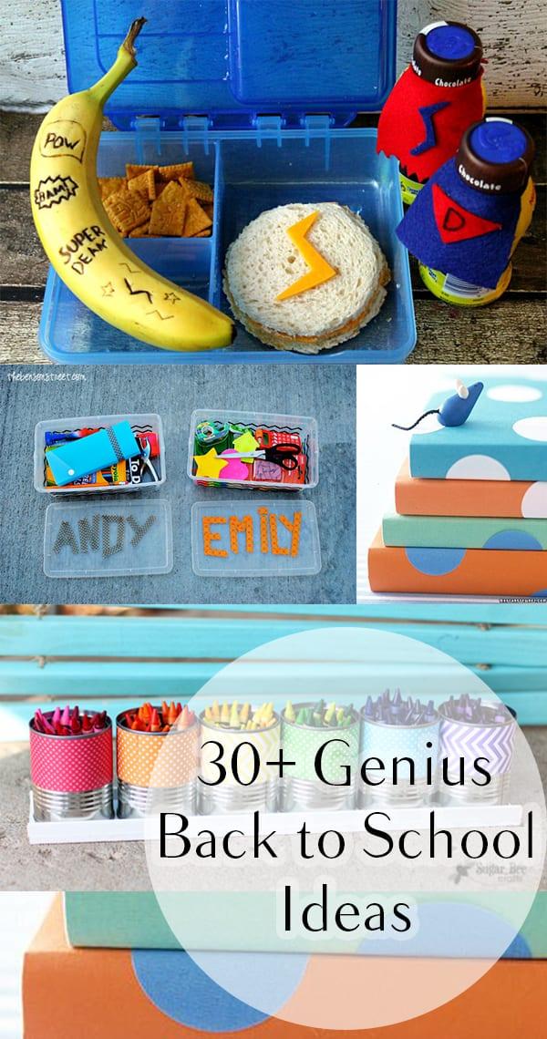30+ Genius Back to School Ideas