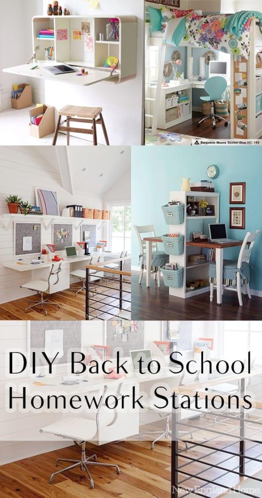 Back to school, homework stations, back to school organization, popular pin, back to school crafts, organization, family organization. l