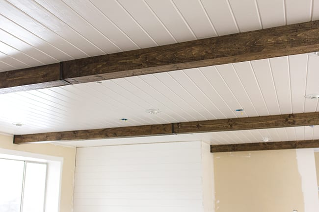 Easy DIY remodel projects-faux beams