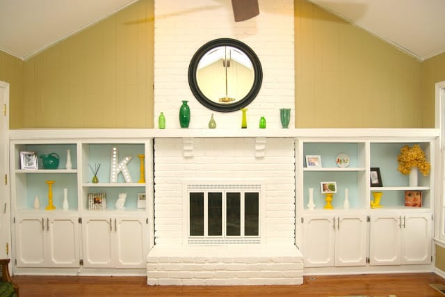Easy DIY remodel projects- paint your fireplace