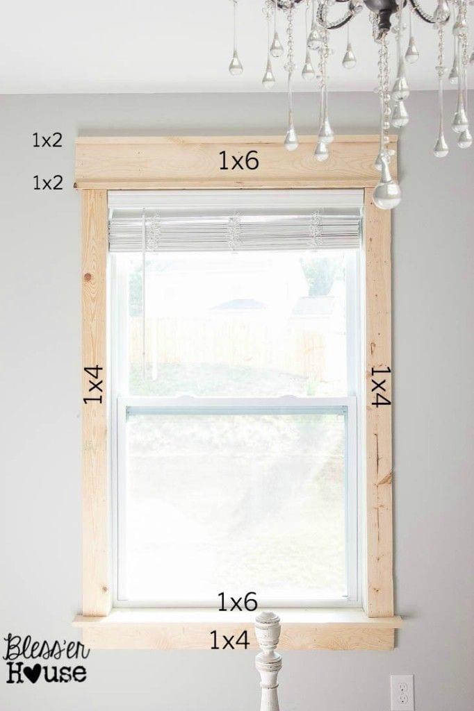 window trim ideas-Easy DIY remodel projects