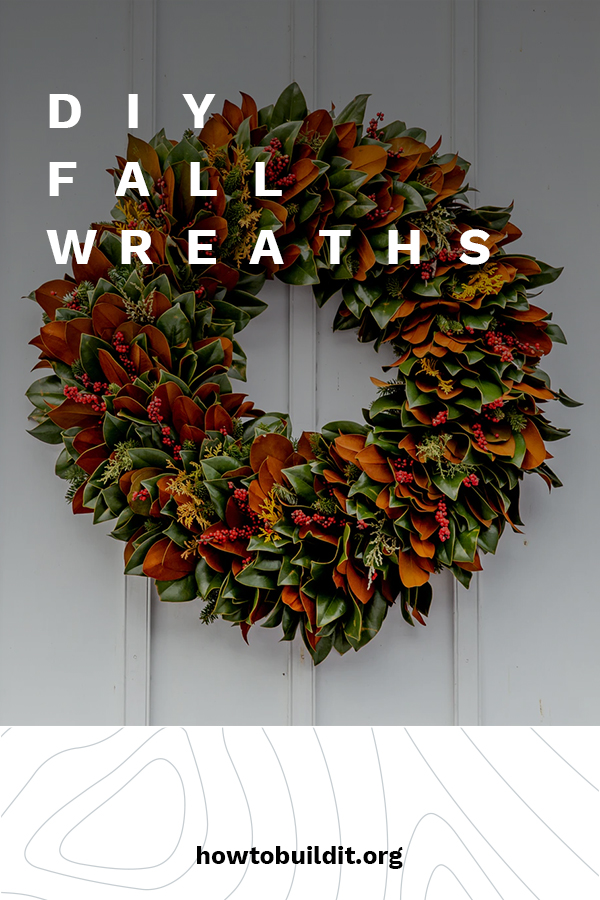 Stylish Fall Wreaths Ideas With Corn And Corn Husk For Door