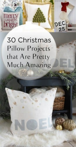 30 Christmas Pillow Projects that Are Pretty Much Amazing