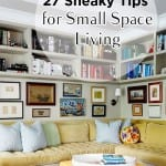 Small space living, small space living hacks, popular pin, organization, easy organization, organized home, DIY home, DIY home organization.