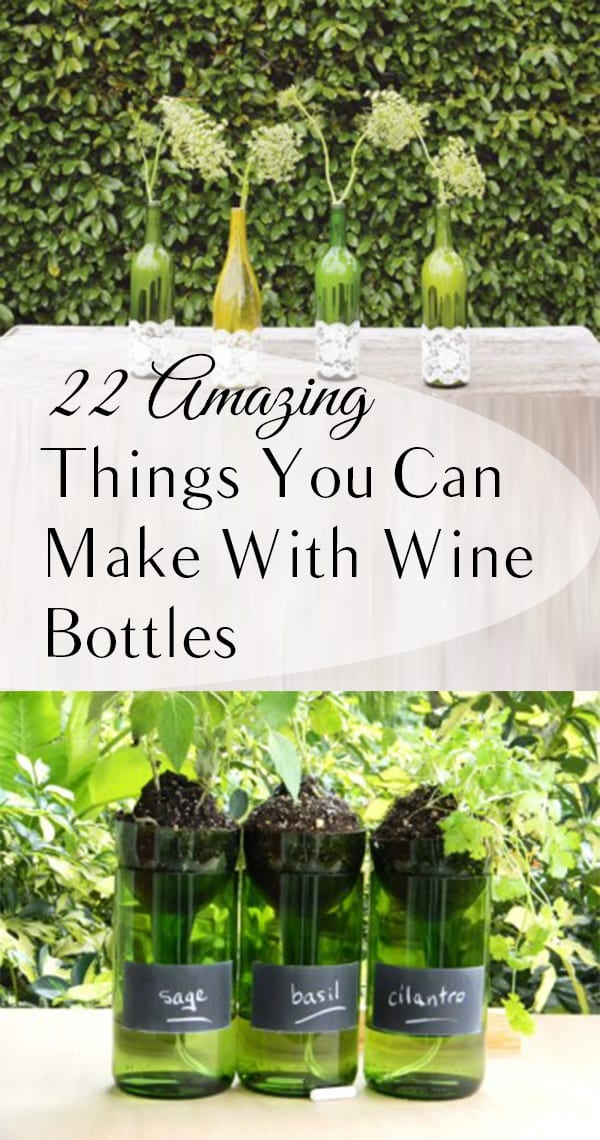 22 amazing things you can make with wine bottles