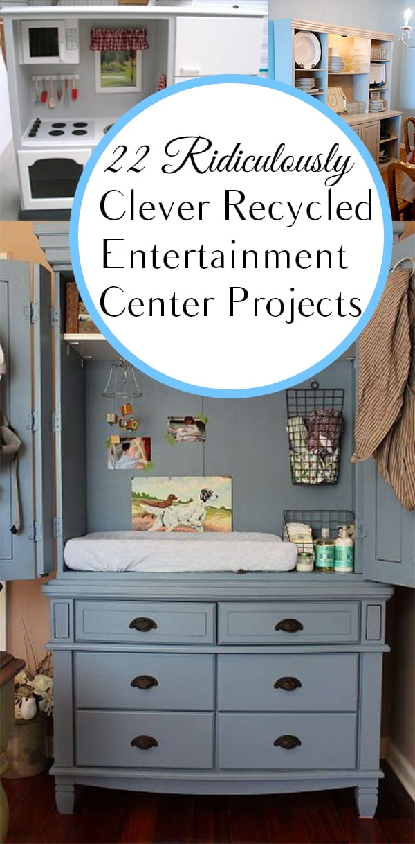 Recycled Entertainment Center Projects. DIY, DIY home projects, home décor, home, dream home, DIY. projects, home improvement, inexpensive home improvement, cheap home DIY.nment Center Projects