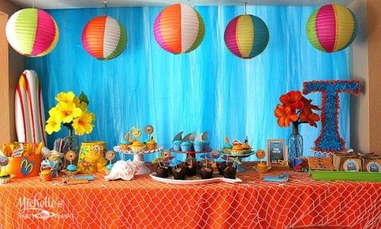 Birthday Decor At Beach Image Inspiration of Cake and Birthday