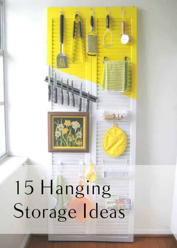 Hanging storage, storage hacks, easy storage ideas, DIY storage, organization, DIY organization, organized home, popular pin, home hacks.