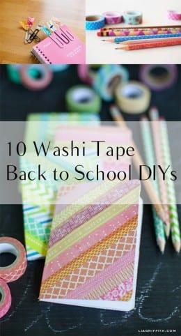10 Washi Tape Back to School DIYs (1)