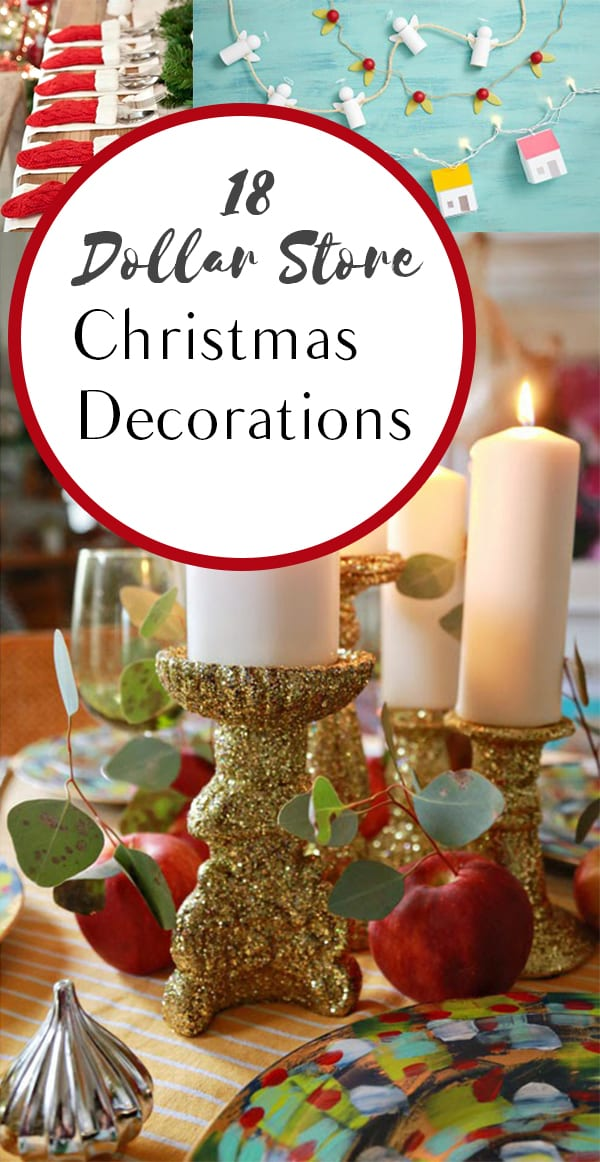dollar store christmas decorations frugal decorating hacks holiday decor cheap holiday decor