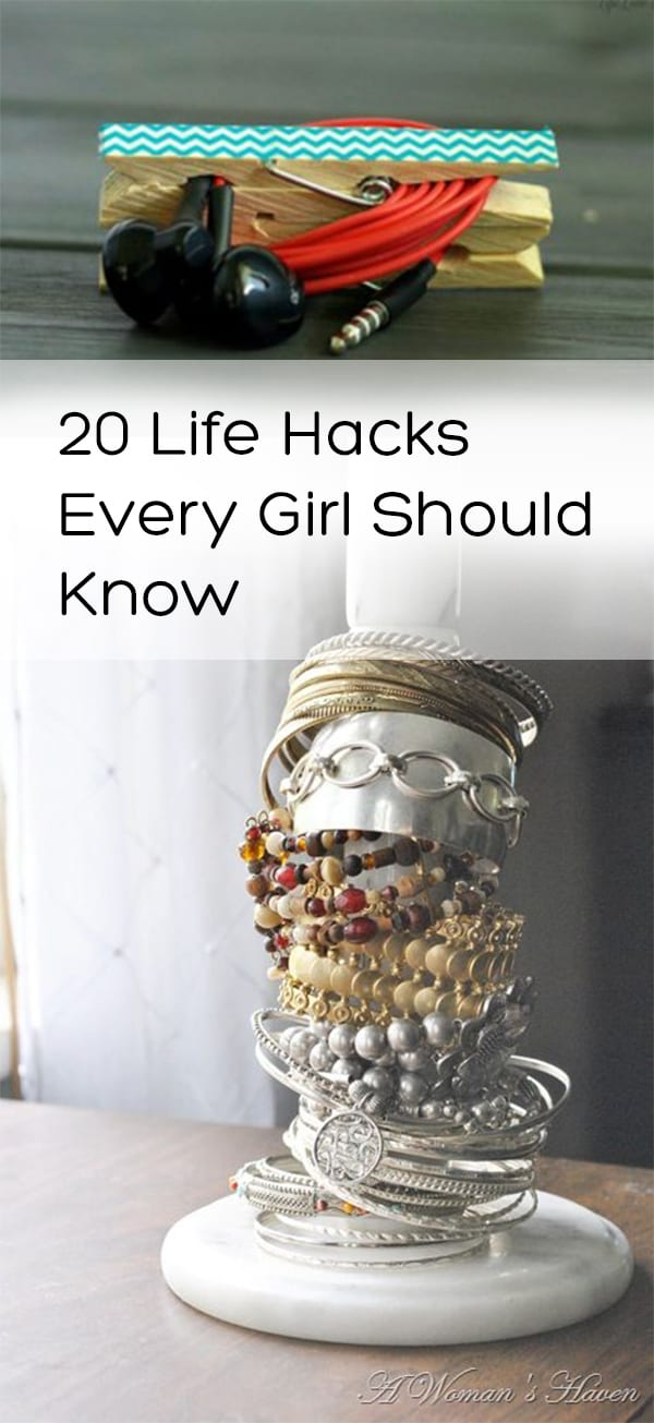 Life hacks, tips, tricks, home hacks, makeup tips, storage hacks, popular pin,