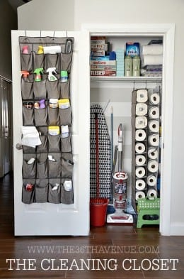 Organized cleaning closer, cleaning closet hacks, DIY cleaning closet, popular pin, cleaning hacks, organization tips, DIY home organization.