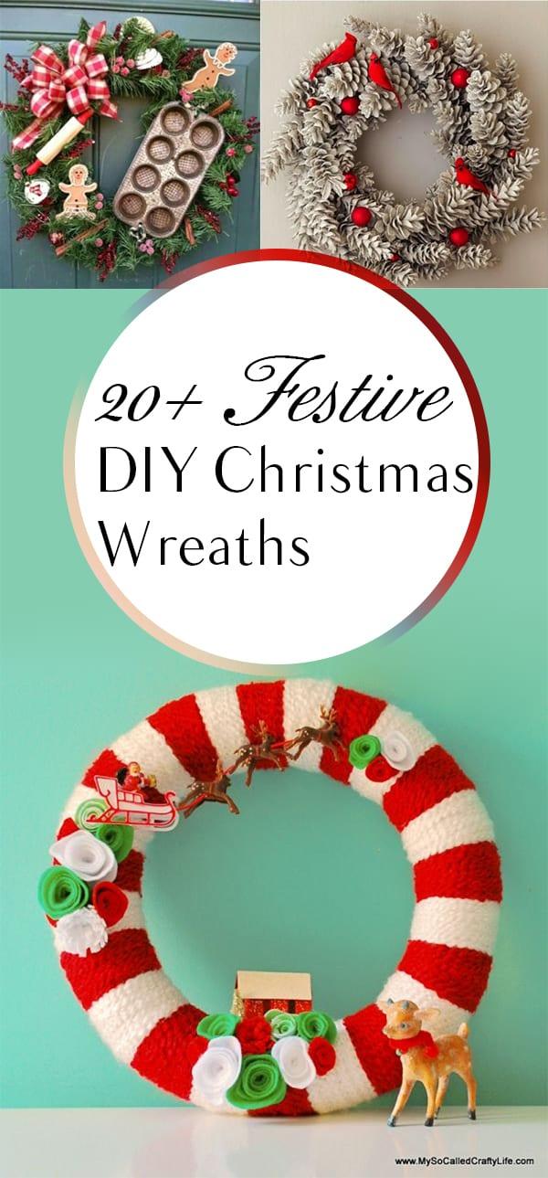 Christmas Wreaths, DIY Christmas Wreaths, Homemade Christmas Decor, Popular Pin, Easy Holiday Decorations, Easy Christmas Wreaths, Christmas Crafts, Christmas Door Decor, Christmas Porch Decorations