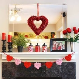Valentines Day, Decorating for Valentines Day, Valentines Day Decor Tips, Easy Ways to Decorate for Valentines Day, Valentines Day Mantelpiece, Easy Ways to Decorate Your Mantle