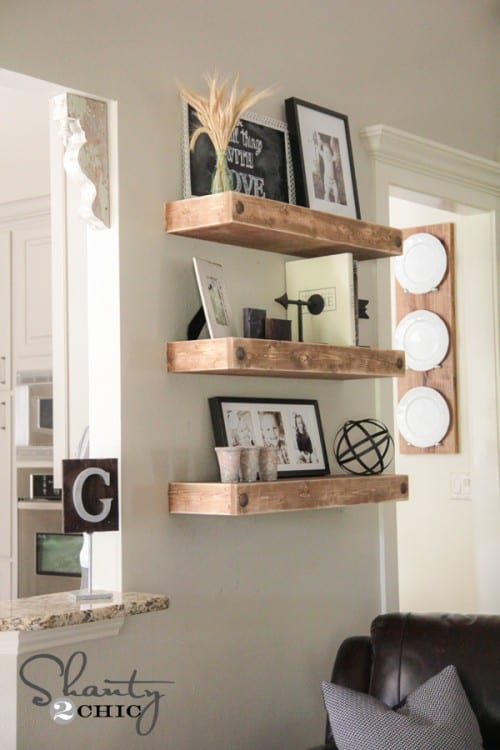10 DIY Floating Shelf Projects9