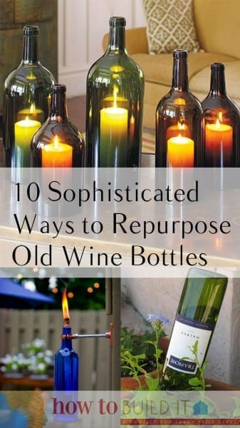 Things to Do With Old Wine Bottles, Wine Bottle Projects, Easy Craft Projects, How to Reuse WIne Bottles, Easy Ways to Reuse Wine Bottles, Craft Ideas, Easy Craft Ideas, Repurpose Wine Bottles.