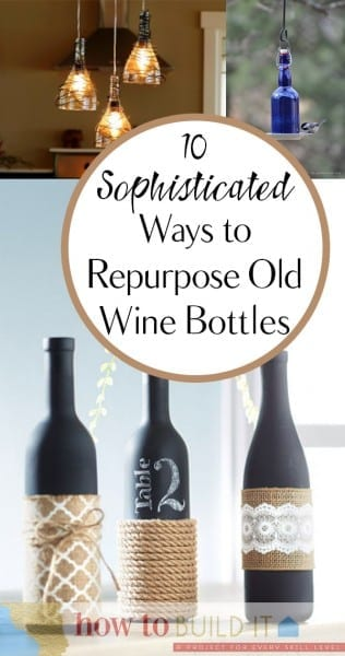 Things to Do With Old Wine Bottles, Wine Bottle, Wine Bottle Crafts, Wine Bottle Projects, Easy Craft Projects, How to Reuse WIne Bottles, Easy Ways to Reuse Wine Bottles, Craft Ideas, Easy Craft Ideas, Repurpose Wine Bottles.