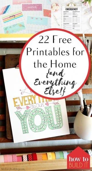 Free Printables, Printables for the Home, Home Decor, Organization Printables, Home Decor Printables, Holiday Printables, Popular