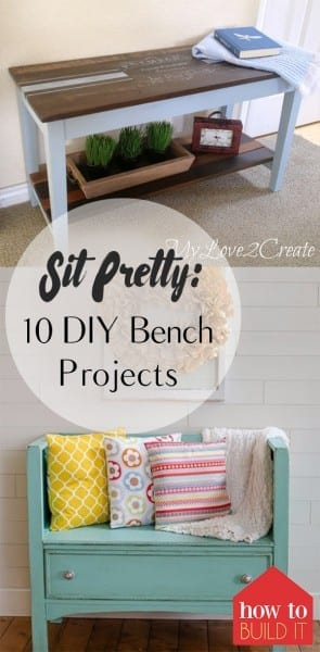 DIY Benches, Bench Projects, DIY Home Decor, DIY Furniture, Homemade Furniture, DIY Home Decor, Furniture Projects, DIY Bench Projects, Popular Pin