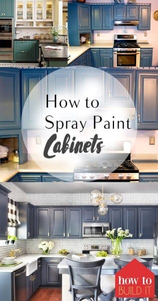 How to Spray Paint Cabinets – How To Build It How to Spray Paint Cabinets, Kitchen Updates, Kitchen Cabinet Updates, How to Paint Your Kitchen, Fast Ways to Update Your Home, Home Improvement, Home Improvement Hacks, How to Quickly Update Your Home, Best DIY Pins, Popular DIY Pins