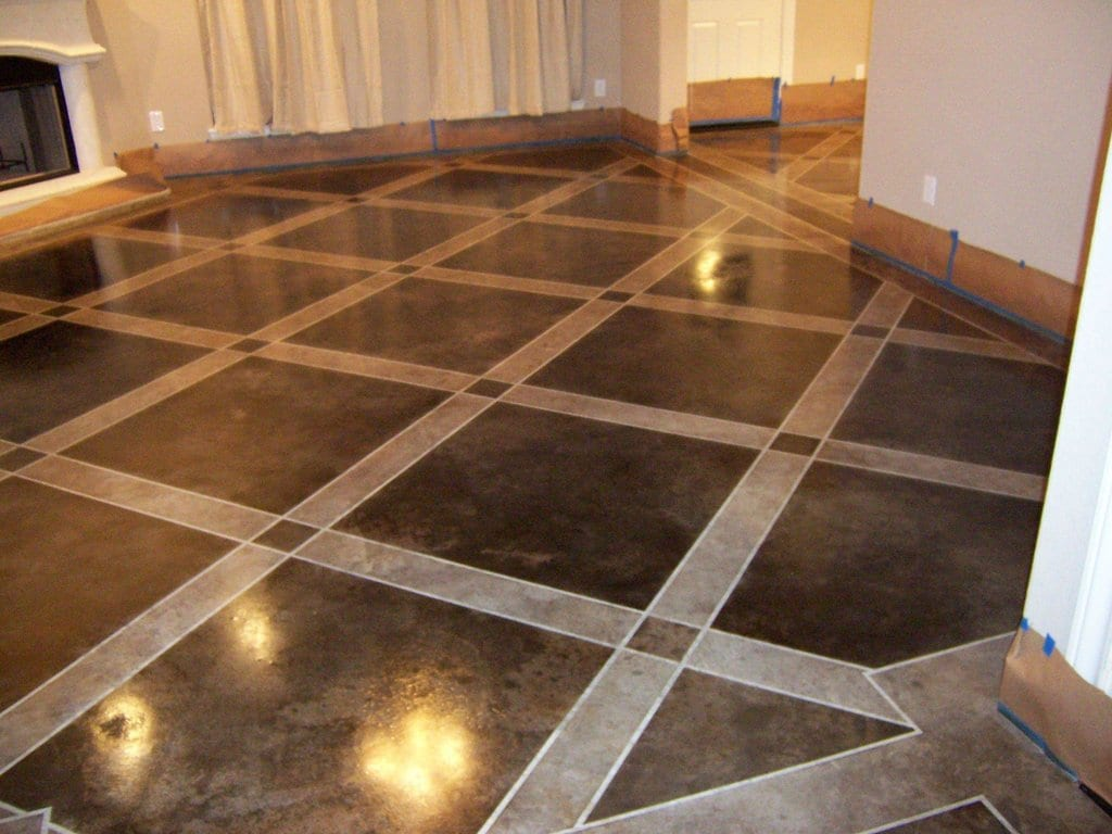 How to stain your concrete floor easily how to build it for How to clean cement stains