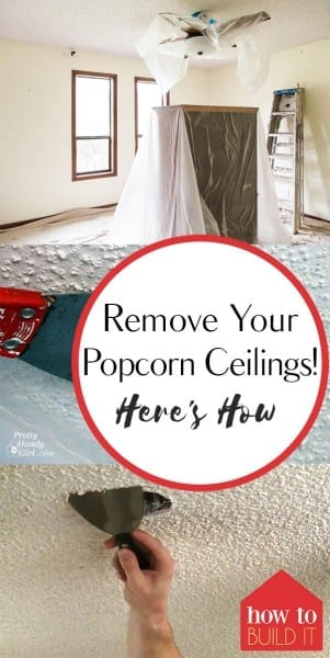 Remove Your Popcorn Ceilings! Here's How – How To Build It| Removing Popcorn Ceilings, How to Remove Popcorn Ceilings, DIY Home Improvement, DIY Home Decor, Fast Improvements For the Home, Home Decor Hacks, Home Tips and Tricks