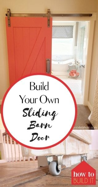 Build Your Own Sliding Barn Door| Barn Door, Sliding Barn Door, DIY Sliding Barn Door, How to Make Your Own Sliding Barn Door, DIY Home, DIY Home Decor Projects, Home Improvement Projects and Hacks, Popular Pin