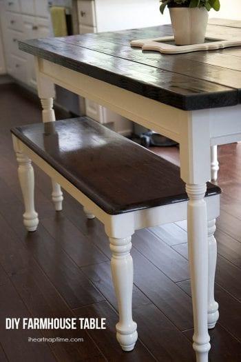 BFarmhouse Kitchen Table, DIY Kitchen Table, Farmhouse Kitchen Decor, Farmhouse Kitchen Cabinets, Home Decor, DIY Home Decor, Farmhouse Decor Ideas, Farmhouse Decor DIY Ideas