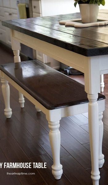 BFarmhouse Kitchen Table, DIY Kitchen Table, Farmhouse Kitchen Decor, Farmhouse Kitchen Cabinets, Home Decor, DIY Home Decor, Farmhouse Decor Ideas, Farmhouse Decor DIY Ideas