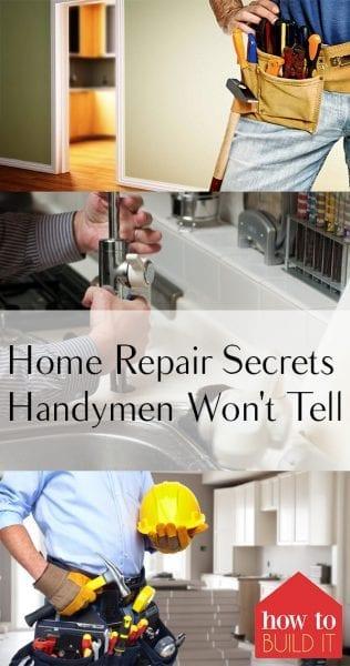 Home Repair Secrets Handymen Won't Tell You  Home Repair Hacks, Home Repair Tips and Tricks, Home Improvement Hacks, Home Improvement TIps and Tricks, Popular Pin