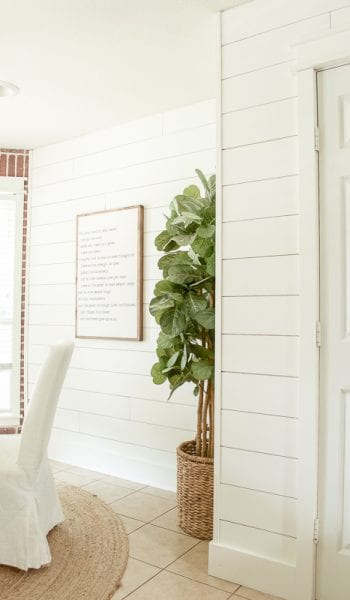 How to Install Shiplap in No Time at All! How to Install Shiplap, DIY Shiplap, DIY Shiplap Projects, DIY Shiplap Decor, Shiplap Decor Ideas, Home Decor Ideas, Home Decor Hacks, Home Improvement, Easy Home Improvement Projects, Popular Pin