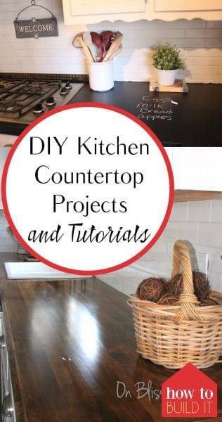 DIY Kitchen Countertop Projects and Tutorials| Kitchen Countertop Projects, DIY Kitchen Countertops, Kitchen Updates, How to Improve Your Kitchen, Kitchen Countertop Tutorials, Make Your Own Kitchen Countertop, Popular Pin
