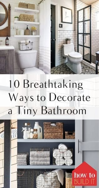 10 Breathtaking Ways to Decorate a Tiny Bathroom| Decorating a Small Bathroom, Small Bathroom DIY Projects, DIY Projects for Tiny Bathrooms, Bathroom DIY Projects, Small Bathroom Decor, Decorating a Small Bathroom, Popular Pin