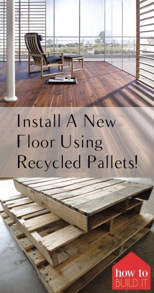 Install A New Floor Using Recycled Pallets! Install Pallet Floors, Installing Pallet Flooring, Recycled Pallet Projects, Things to Do With Old Pallets, Recycled Pallet Projects, Popular Pin
