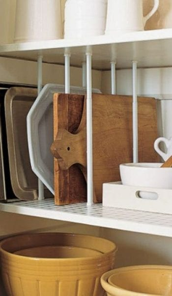 Effortless Ways to Add Storage Space to Tiny Cabinets| Storage, Storage Hacks, Organization, Organization Hacks, Household Organization Hacks #Organization #OrganizationTips #StorageTips #StorageHacks #HomeStorage