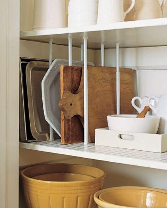 Effortless Ways to Add Storage Space to Tiny Cabinets| Storage, Storage Hacks, Organization, Organization Hacks, Household Organization Hacks #Organization #OrganizationTips #StorageTips #StorageHacks #HomeStorage