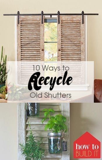 Old Shutters, Recycle Old Shutters, Old Shutter Ideas, Old Shutter Repurposed, Old Shutters Decor, Old Shutter Ideas for Outside, DIY Home, DIY Home Decor, Home Decor Ideas, DIY Project