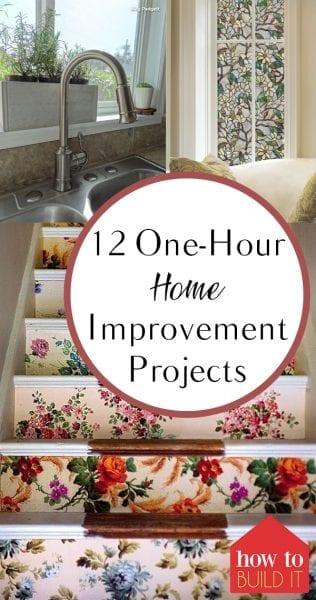 12 One-Hour Home Improvement Projects| Home Improvement, Home Improvement Projects, Fast Home Improvements, Fast Home Improvement Projects, Home Projects, DIY Home, DIY Home, Easy Home Improvement Projects. #HomeImprovement #HomeImprovementProjects #DIYHome #DIYHomeProjects #HomeDecor #HomeHacks
