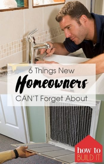 6 Things New Homeowners CANT Forget About| Homeowner Hacks, Home Hacks, Home Improvement, Home Maintenance Hacks, DIY Home, Home Tips and Tricks, DIY Home Improvement. #HomeHacks #HomeImprovement