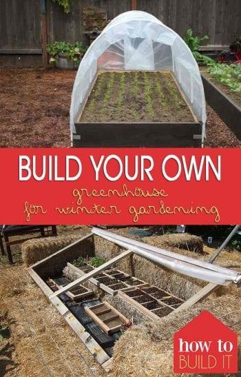 Build Your Own Greenhouse for Winter Gardening| Gardening, DIY Greenhouse, DIY Greenhouse Projects, Winter Gardening, Winter Gardening Tips #DIYGreenhouse #DIY #Gardening