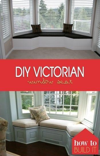 DIY Victorian Window Seat| Victorian Window Seat, DIY Window Seat, Window Seat Projects, DIY Window Seat, Window Seat Projects, Handmade Window Seat #DIYWindowSeat #WindowSeat #DIYHome